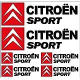 Sticker Autocollant Planche Citroen Sport 24x23cm