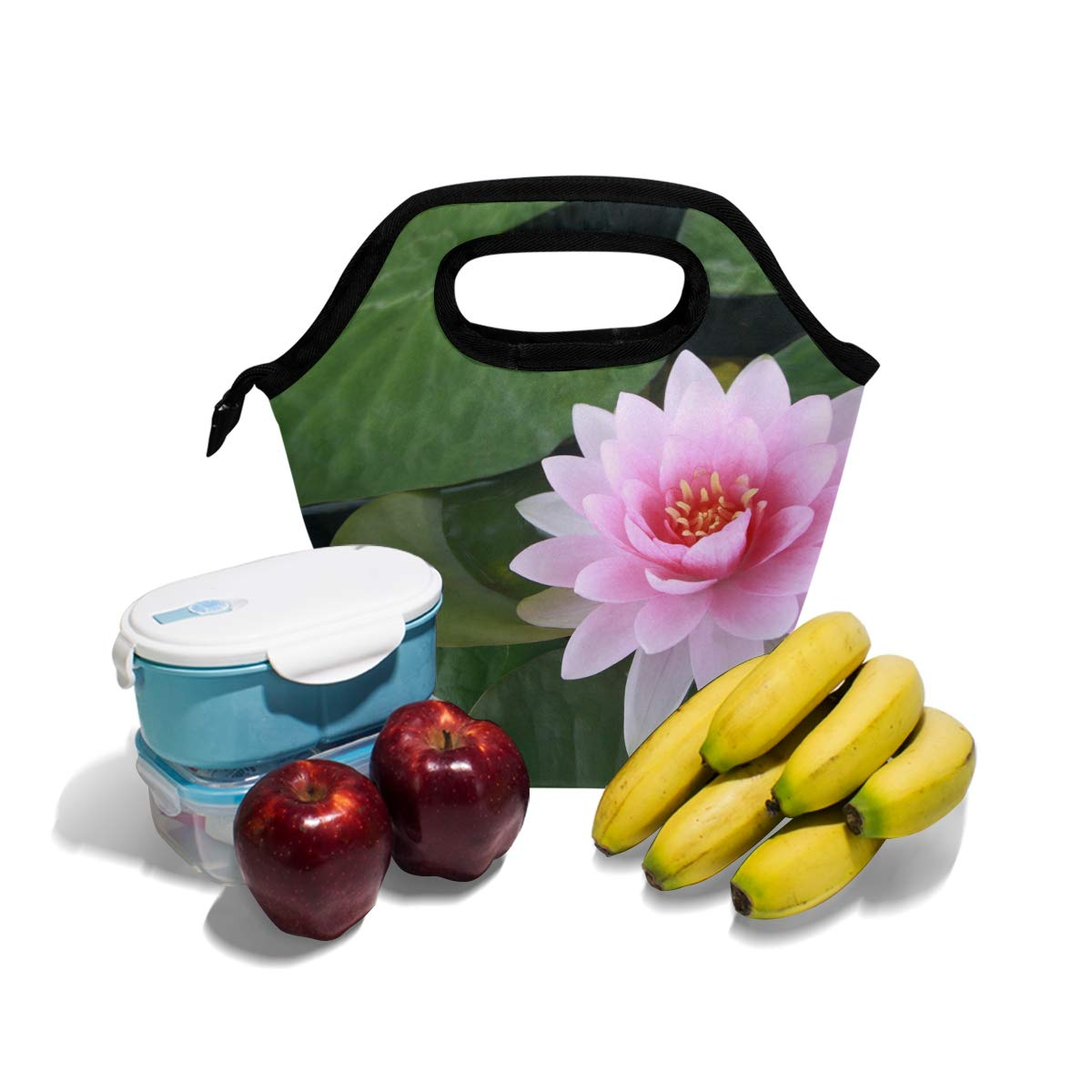 Amazoncom Lunch Tote Most Beautiful Pink Lotus Flower Mens