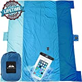 ChillaX Sand Free Beach Blanket - Huge 9' x 10' for 7 Adults