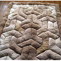 Incatrade New Brown Alpaca Rug.Y Design. Soft Alpaca Fur Handmade (71 inch x 80 inch)