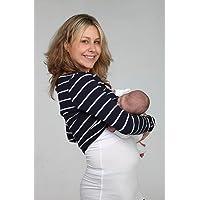 Breastvest - Camiseta para embarazada (talla 44/XL), color blanco
