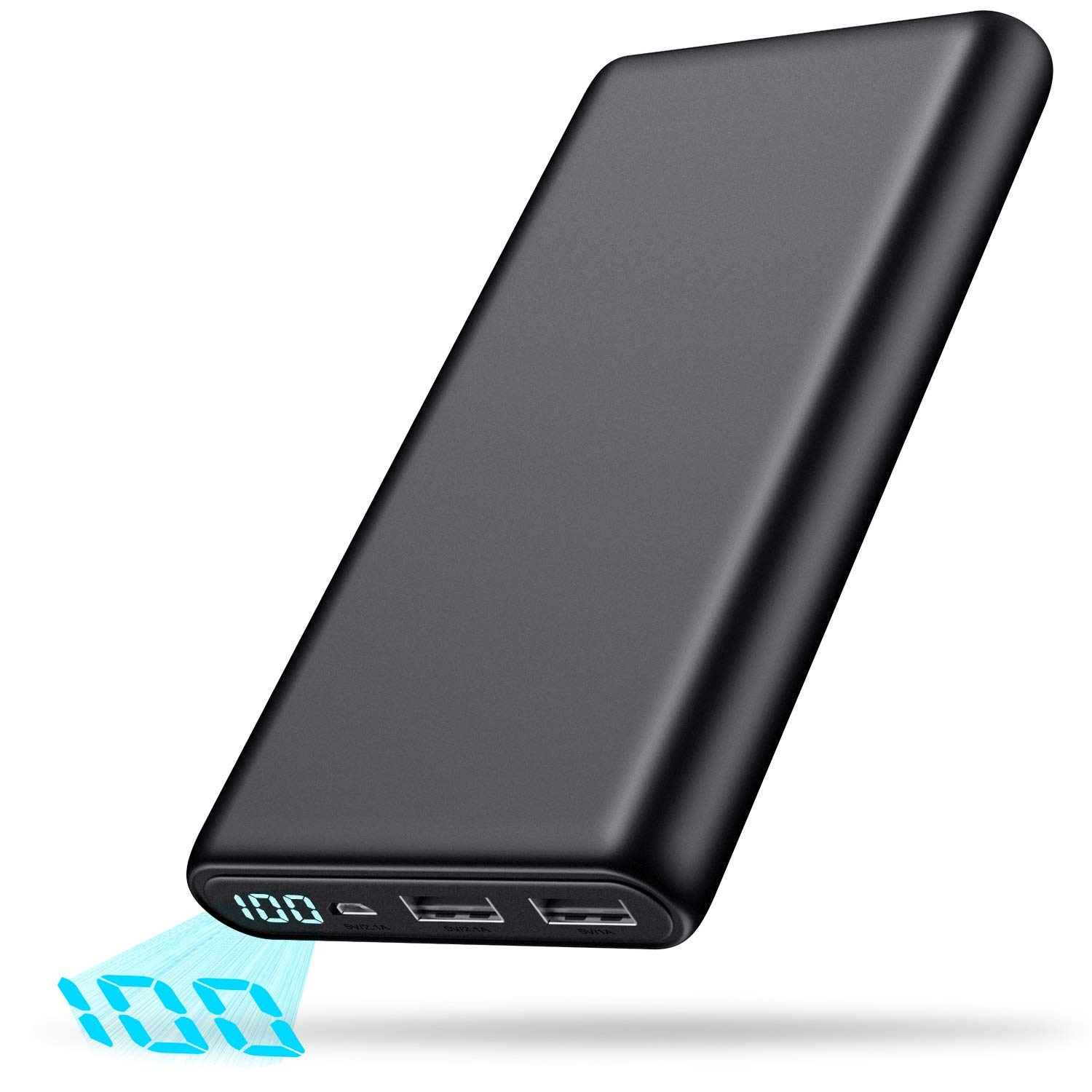 Portable Charger Power Bank 24800mAh High Capacity External Battery Pack Dual Output Port with LCD Digital Display Portable Phone Charger for Smart Phone, Android Phone, Tablets and Others by FOCHEW