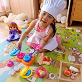 2 Pc-White kids'chef apron and hat set for