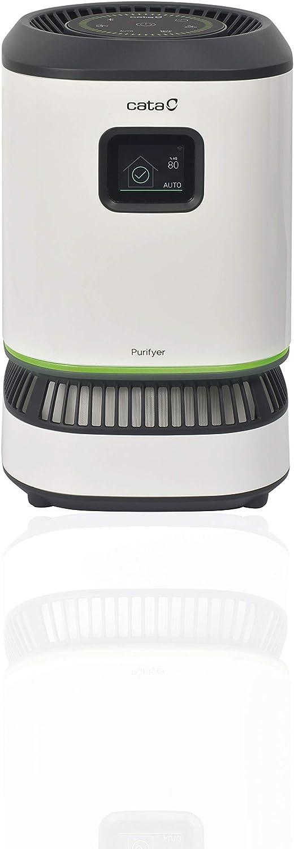 Cata - Purifyer Dream - Purificador de Aire con Filtro HEPA H13 - Hasta 30 m2 75 m 3 de Superficie - Tecnología NONVIRAIR - Pantalla TFT - Diagnostica y Gestiona la Calidad del Aire (02201001)
