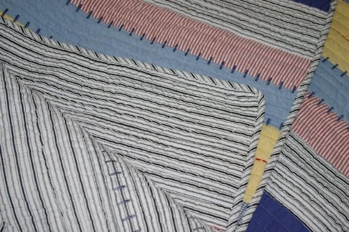 Greenland Home Prairie Stripe Quilt Set, Twin