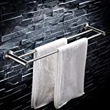 Bath Rooms Towel Holder Rack to The Drilling Wall Double Bar by Rail in Stainless Steel Bathroom Towel Minimalist Rack Towel Rack Shelf (Size: 40 cm).