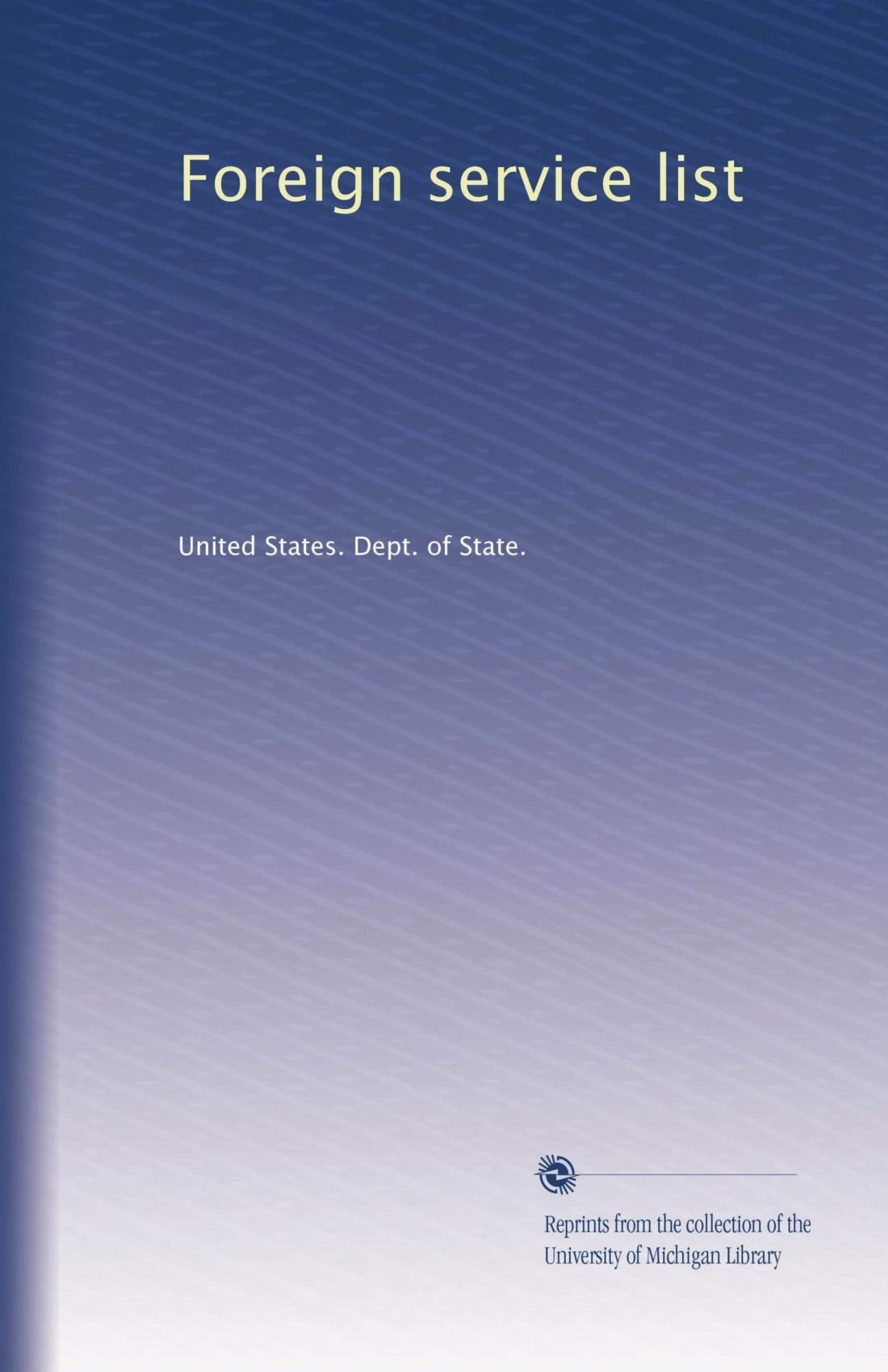 Foreign service list (Volume 7) pdf
