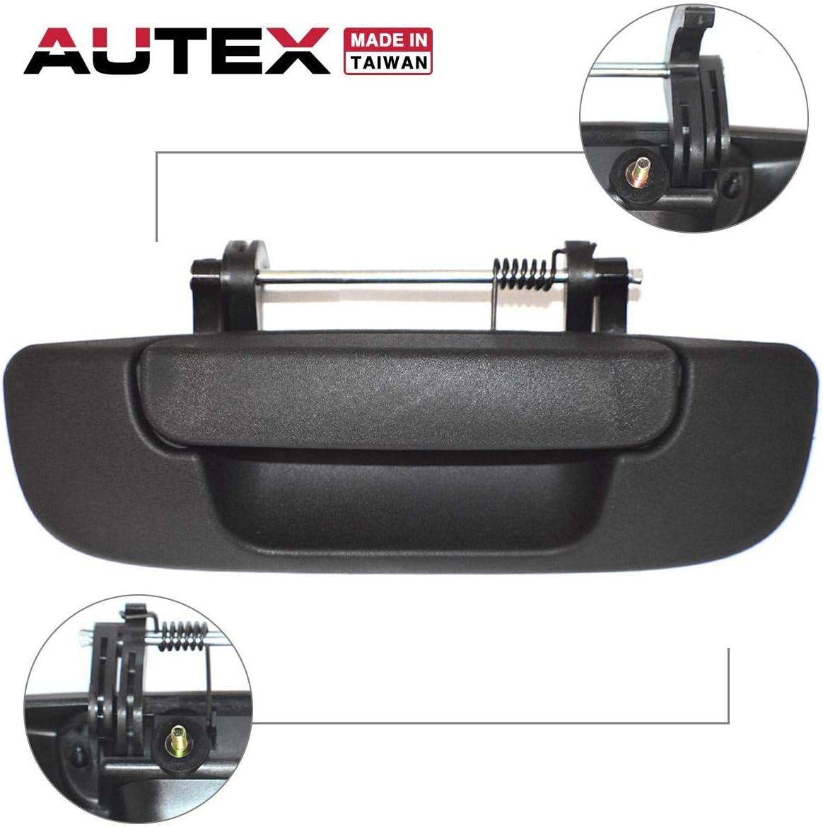 PL3400 Pop /& Lock Black Tailgate Handle Lock fits 02-09 Dodge Ram