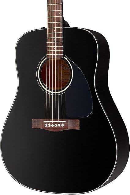 Fender guitarra acústica DG-60 negro: Amazon.es: Instrumentos ...