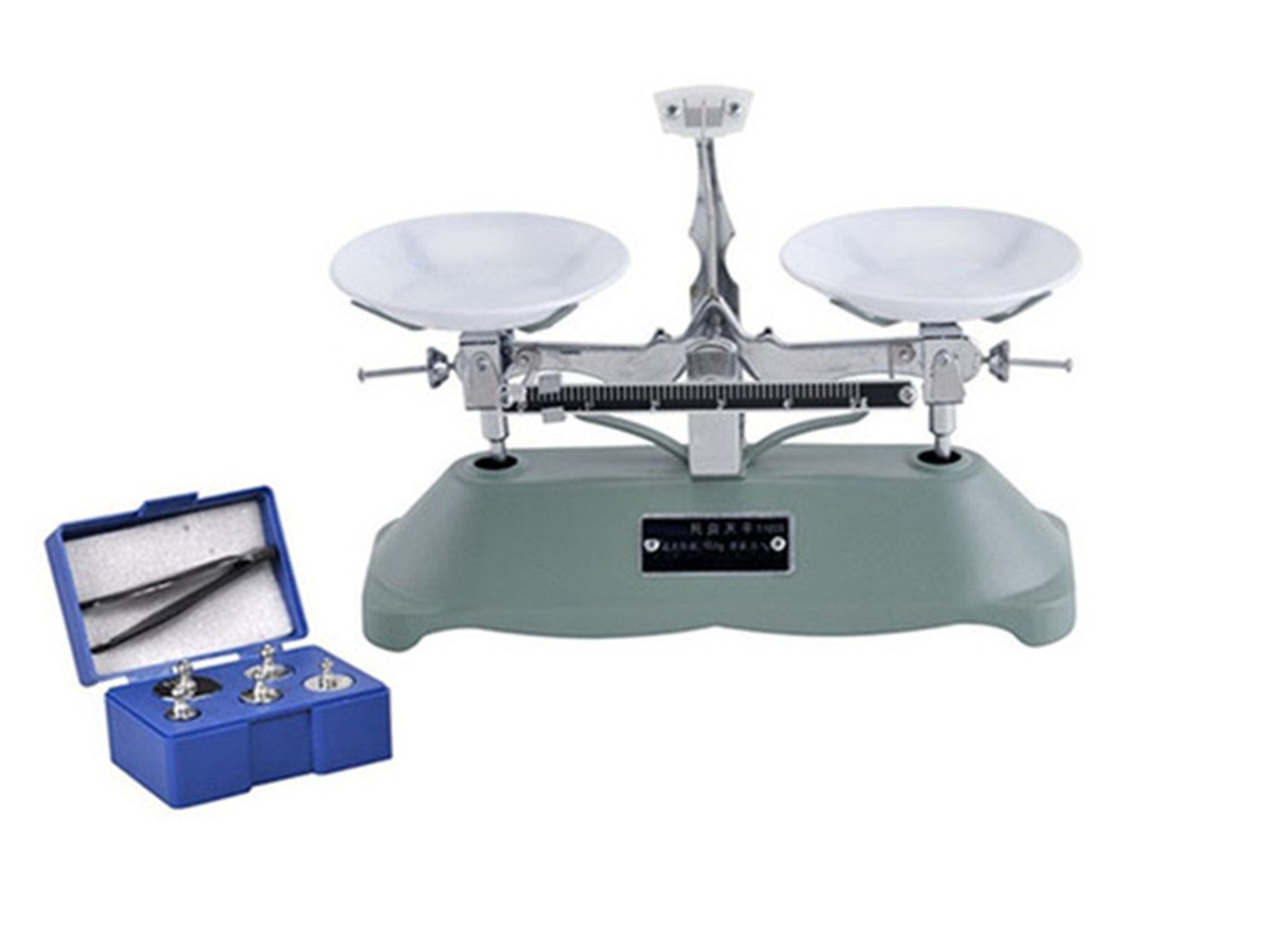 CGOLDENWALL The 100g/0.1g Counter Balance Scale Mechanical Table Balance Scale Single Beam with Weight School Teaching Tool Lab Equipment