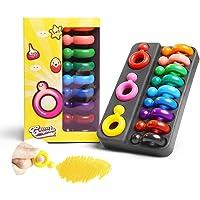 Eliky 12 kleuren niet-giftige was ring vorm crayons voor baby-safe kids tekening schilderen