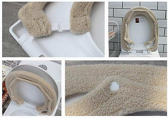 Universale per Bagno Coprivaso Coprisedile per WC Caldo E Morbido Tappetino per Cuscino A Forma di O Cuscino per La Casa Blu Dellefuture Coprisedile per WC