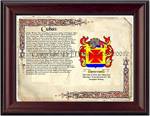 Cubas Coat of Arms/ Family Crest on Fine Paper and Family - Of Arms Coat Cuba