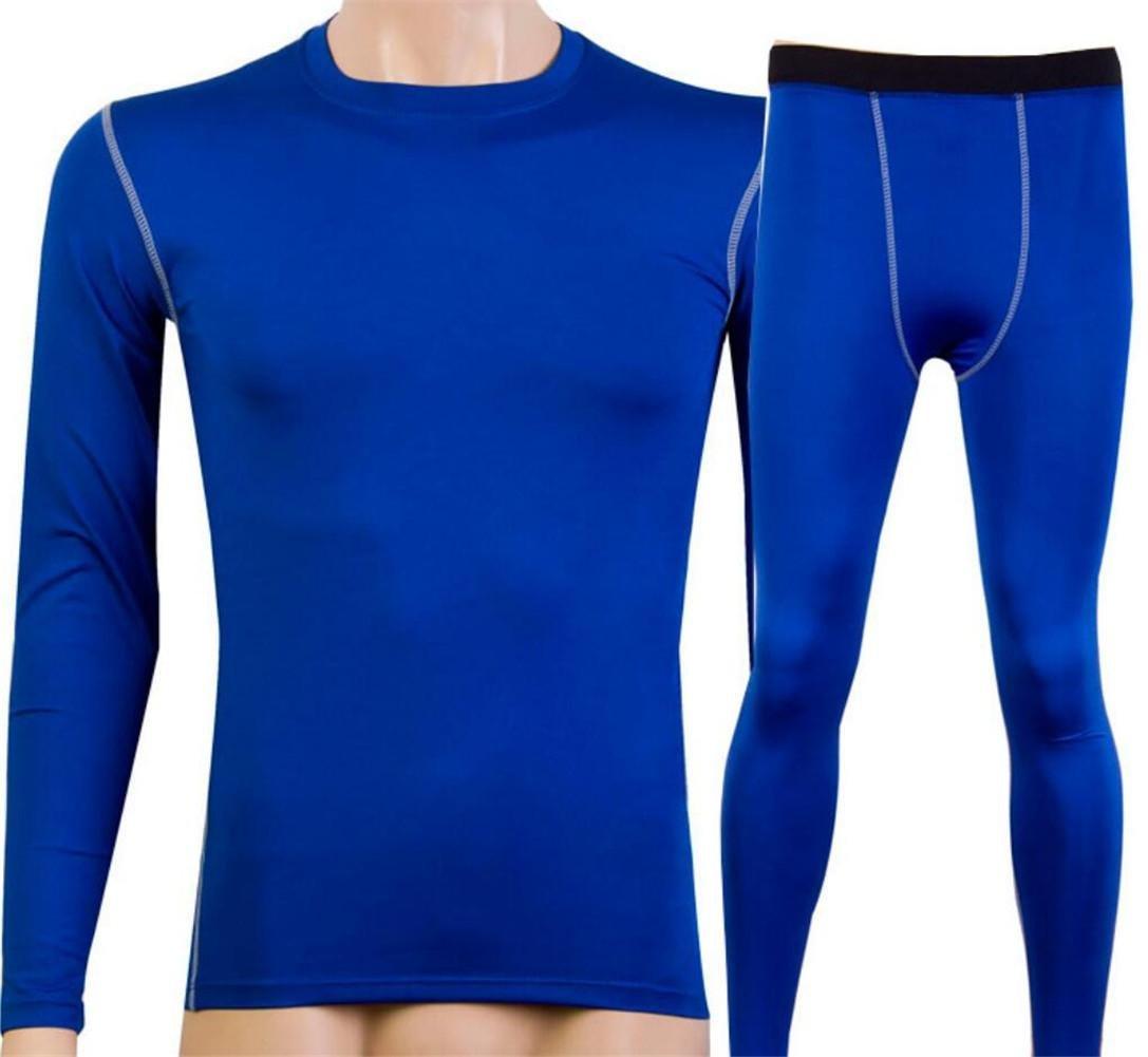 sports dhomme et des vêtements de formation de remise en forme hermétique costume transpiration séchage rapide Longsleeve 1019 m blue 1020
