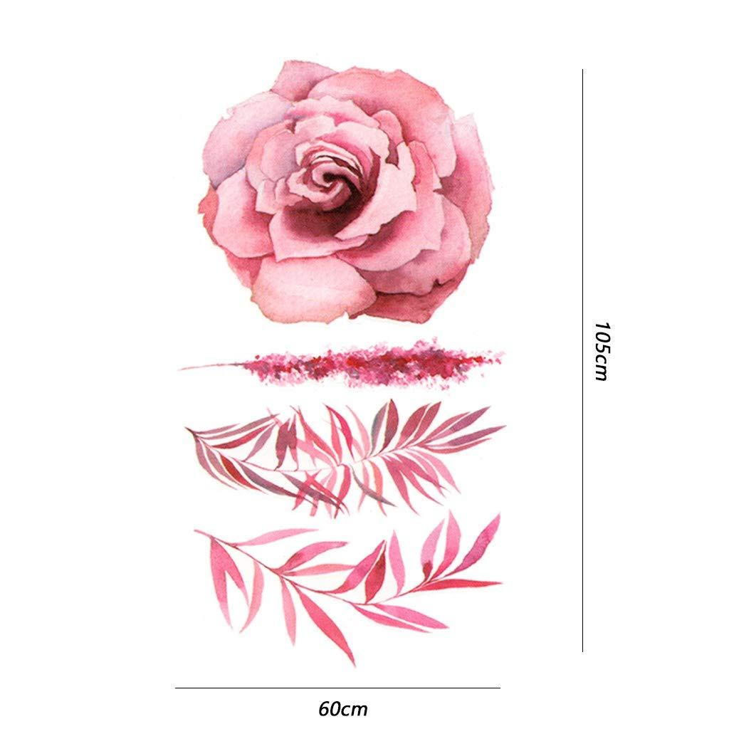 Tatuajes de Flores Cuerpo Impermeable Etiqueta Tatuajes temporales ...