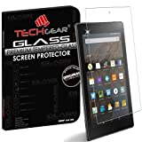 """TECHGEAR® Amazon Fire HD 8"""" Tablet GLASS Edition Genuine Tempered Glass Screen Protector Guard Cover (for 2016 & 2015 Fire HD 8)"""