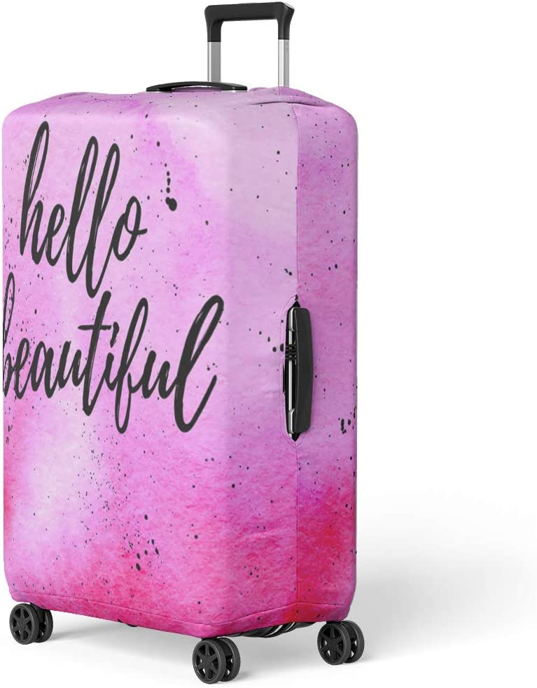 Pinbeam Luggage Cover Floral Tropical Pattern Exotic Flowers Palm Leaves Jungle Travel Suitcase Cover Protector Baggage Case Fits 18-22 inches