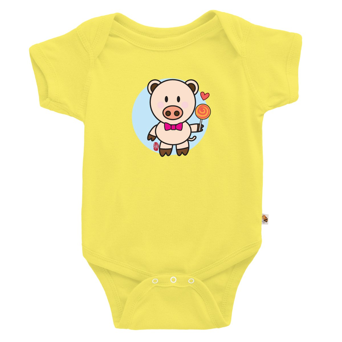 TeezBee Baby Year of The Pig Cute Chinese Zodiac Onesie