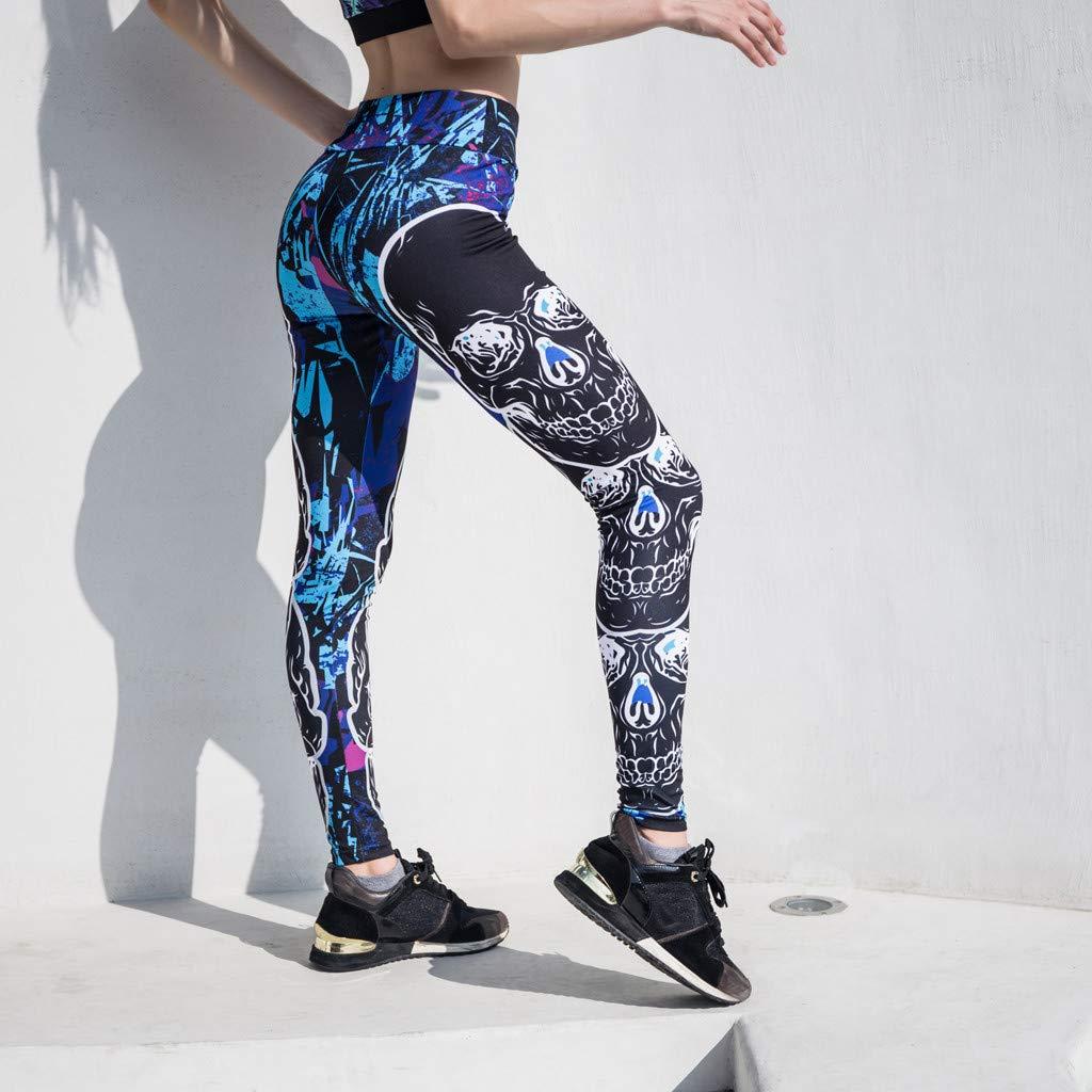 Mujer Pantalones Mallas Mujer Fitness El/ásticos Mallas Moda Pantalones Impresi/ón Leggings Slim Fit Mayas Largos Pantalones Gym Yoga Cintura Alta Deportivos Running Aptitud Jogging Pants vpass