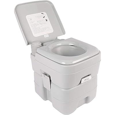 Z ZELUS 20L Inodoro Portátil para Camping 150KG / 330LBS WC Portátil para Camping con Extraíble WC Portatil para Ancianos Niños Baño Móvil para Autocaravana