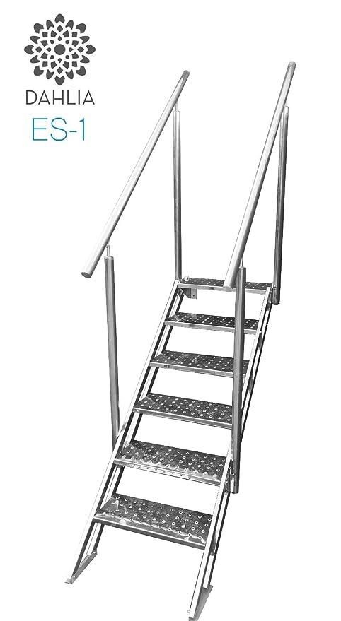 Escalera de Piscina de Facil y Seguro Acceso de Acero ...