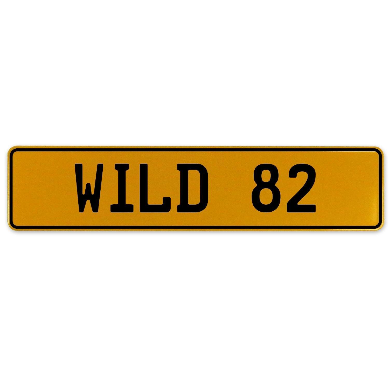 Vintage Parts 560917 Wild 82 Yellow Stamped Aluminum European Plate