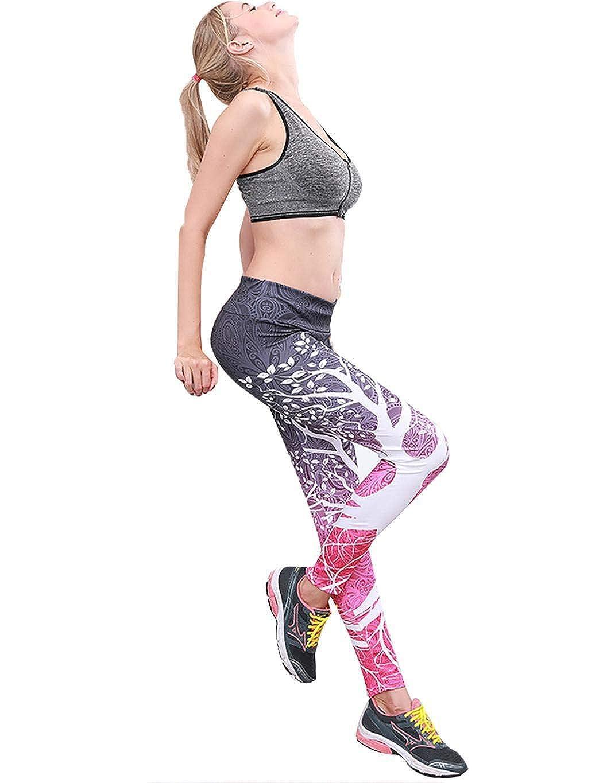 07a471e1cf50e Amazon.com: Sasarh Lightweight Pants Workout Running Jogger Yoga Control Workout  Printed Yoga Capri Pants Black Rose Red: Clothing