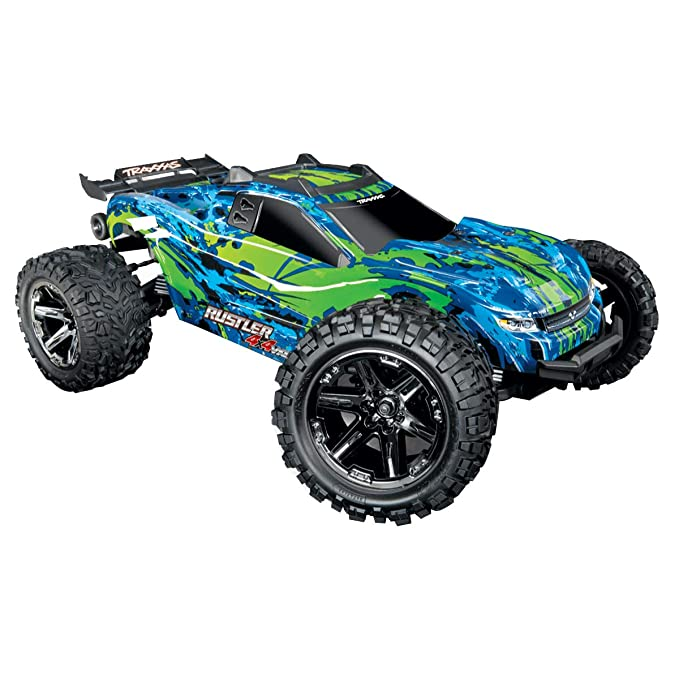 Buy Traxxas Rustler 4x4 Vxl 1 10 Scale Stadium Truck With Tqi Link Enabled 2 4ghz Radio System Traxxas Stability Management Tsm Online At Low Prices In India Amazon In