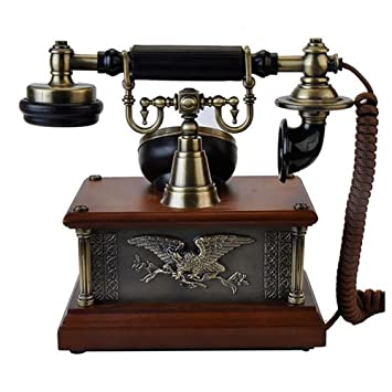 qian european vintage telephone seat type dial pad simple home wiring  machine: amazon co uk: sports & outdoors