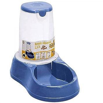tradeshoptraesio® – Cuenco distribuidor automático dispensador pienso Agua Cuenco 3.5L animales