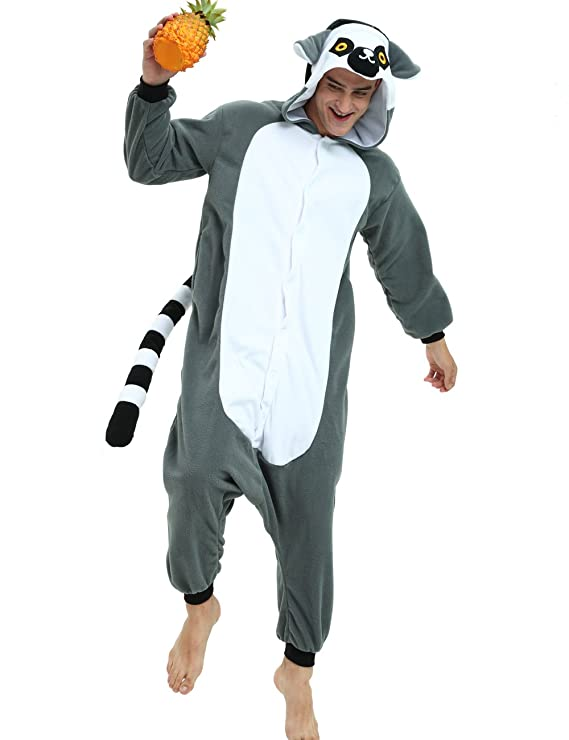 Amazon.com: Lemur Kigurumi- Animal Onesie Pajama for Adult and Teens: Clothing