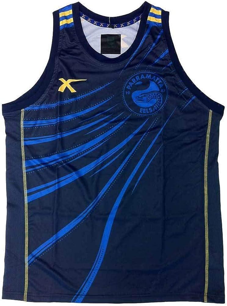 Amazon Com X Blades Parramatta Eels Training Singlet Navy Royal X Large Clothing