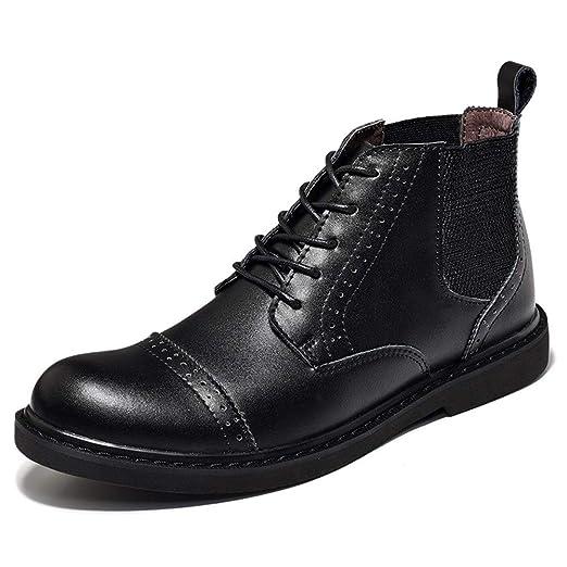 Tufanyu Botines Chelsea for Hombres Zapatos de Derby con Puntera ...