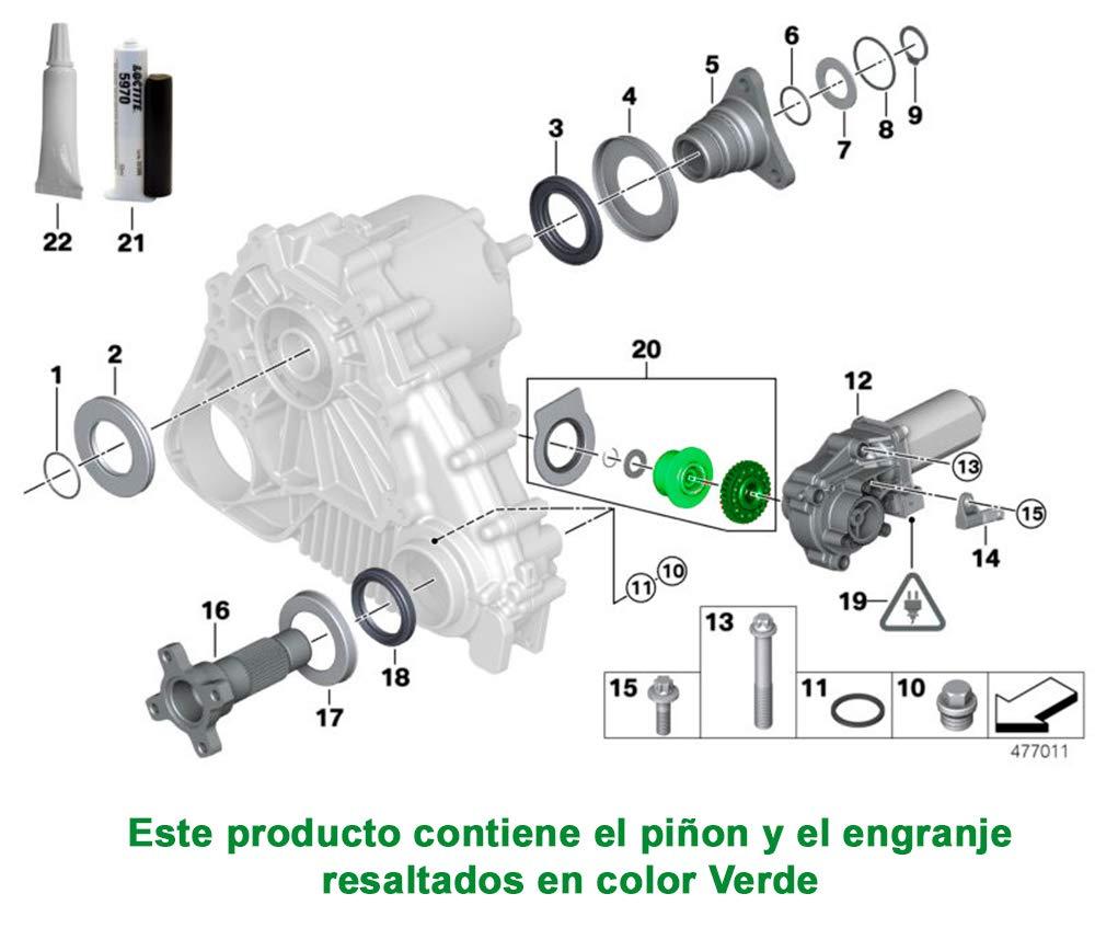 Autoparts engrenage Moteur actionneur bo/îte Transfert BMW X3 E83 X5 E53 E70 X6 E71 Engrenage Couronne