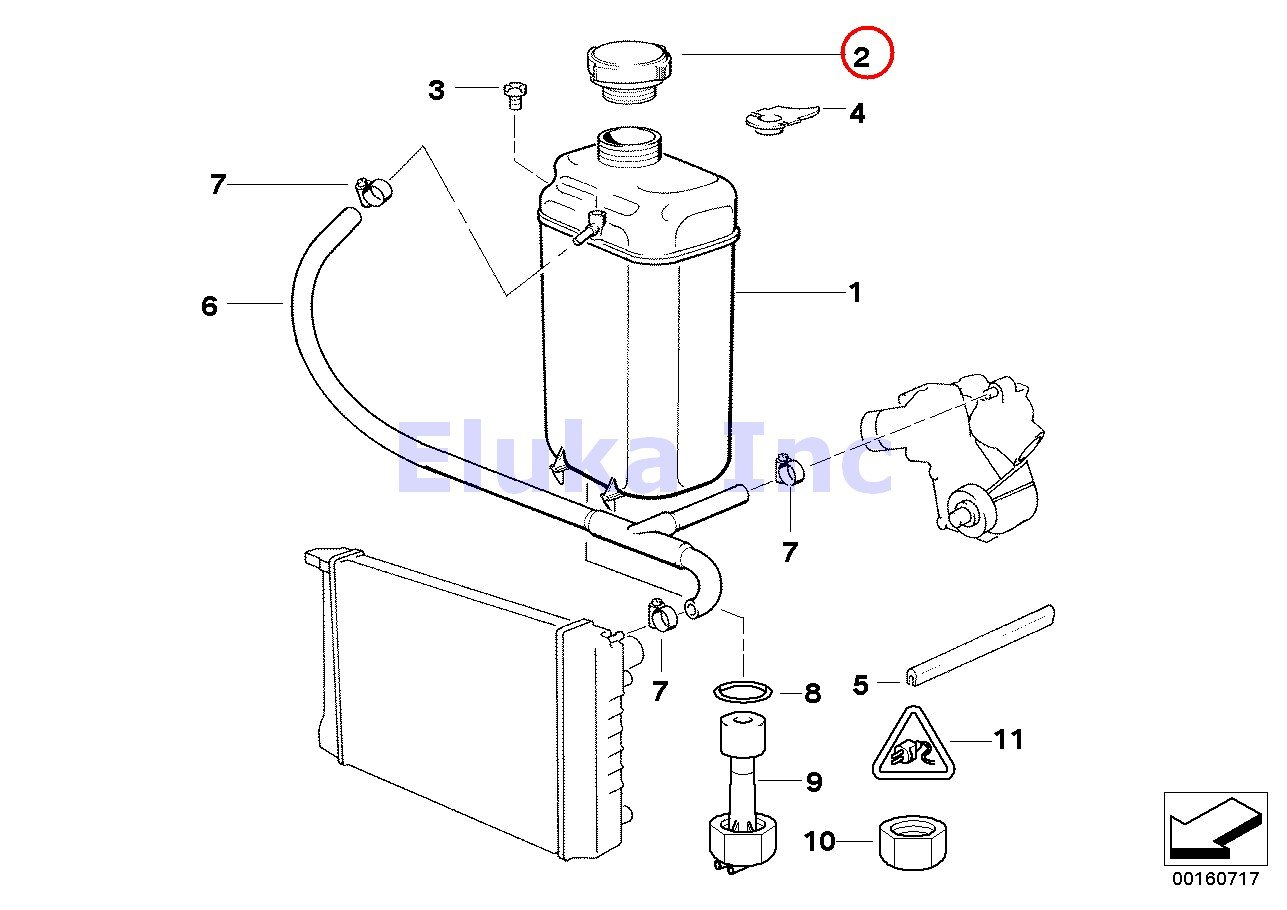 Bmw Genuine Cooling Water Coolant Radiator Expansion 2012 F12 650i Sdrive Engine System Car Parts Diagram Tank Cap 20 Bar 318i 318is 318ti 320i 323i 325i 325is 328i M3 32 740i 740il 740ilp