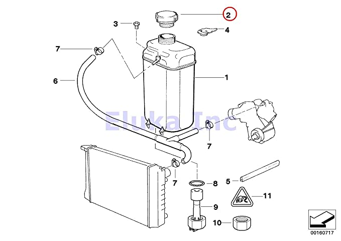 Amazon Com Bmw Genuine Cooling Water Coolant Radiator Expansion