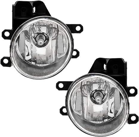 Front Clear Fog Lights Driving Lamp For Toyota RAV4 2009 ~ 2012 //1Pair w//Bulbs