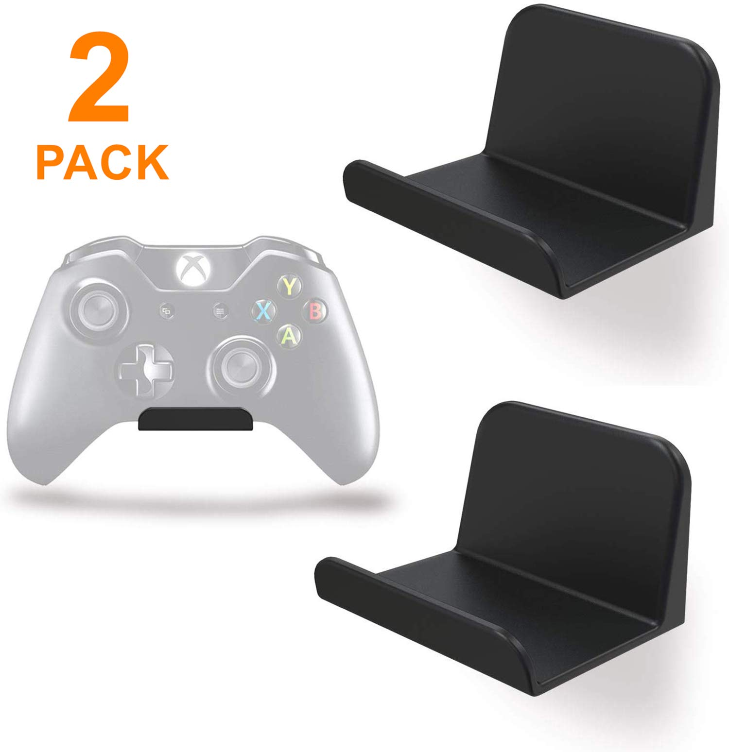 sciuU Wall Mount Stand Holder for Game Controller / Headphones, [2 Pack]Adhesive 3M Hangers, Universal Hook Accessories for Gamepad of Xbox / PS5 / PS4 / Nintendo, No Screws