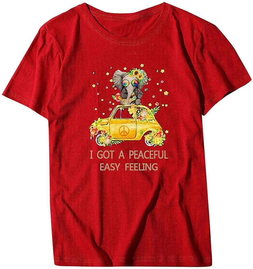 Women Short Sleeve Sunflower t-Shirt Cute Funny Graphic Tee Shirt Teen Girls Casual Shirt Tops Summer Beach Blouse