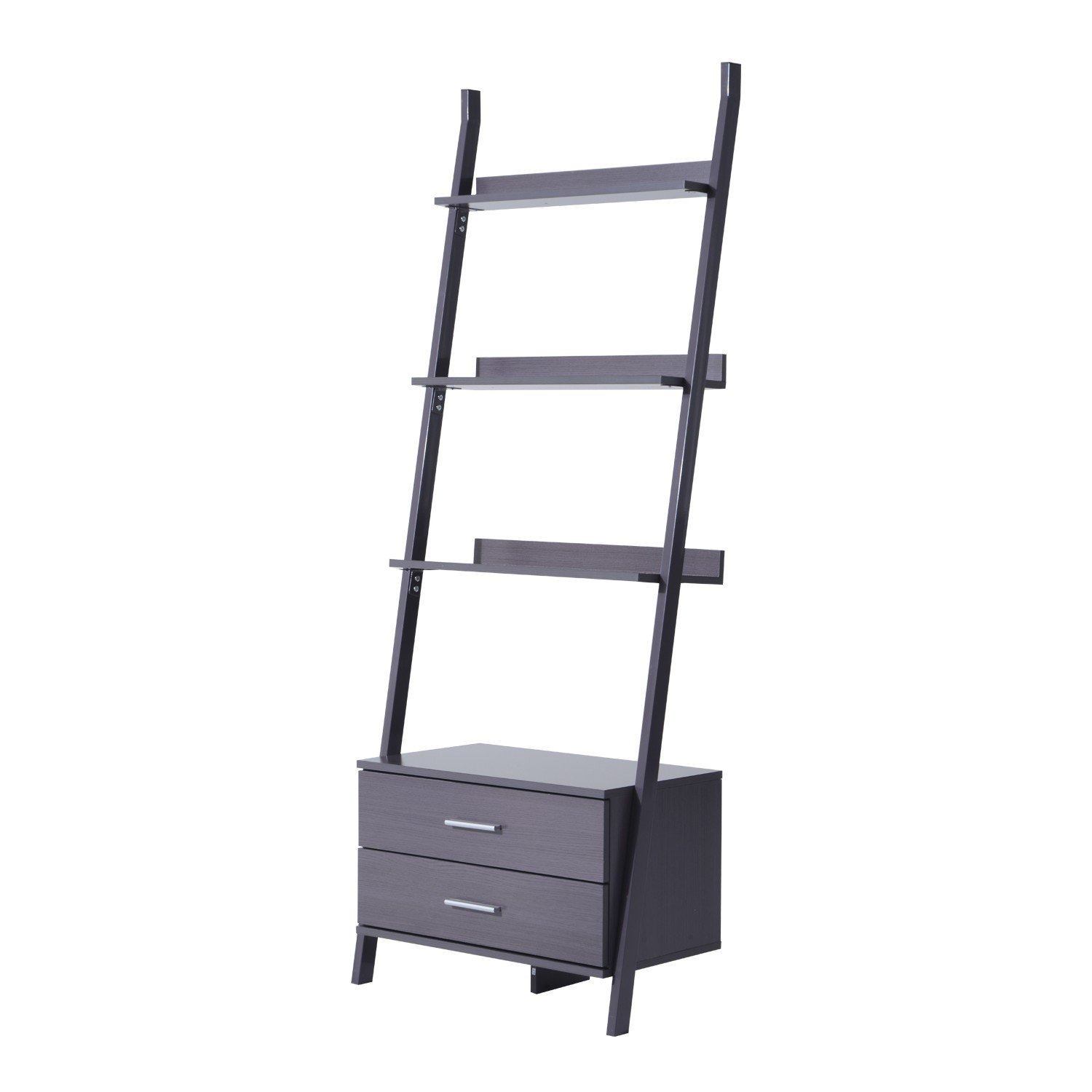 Ladder Bookshelf Furniture Storage Drawer Collectible Bookcase Stylish With Ebook