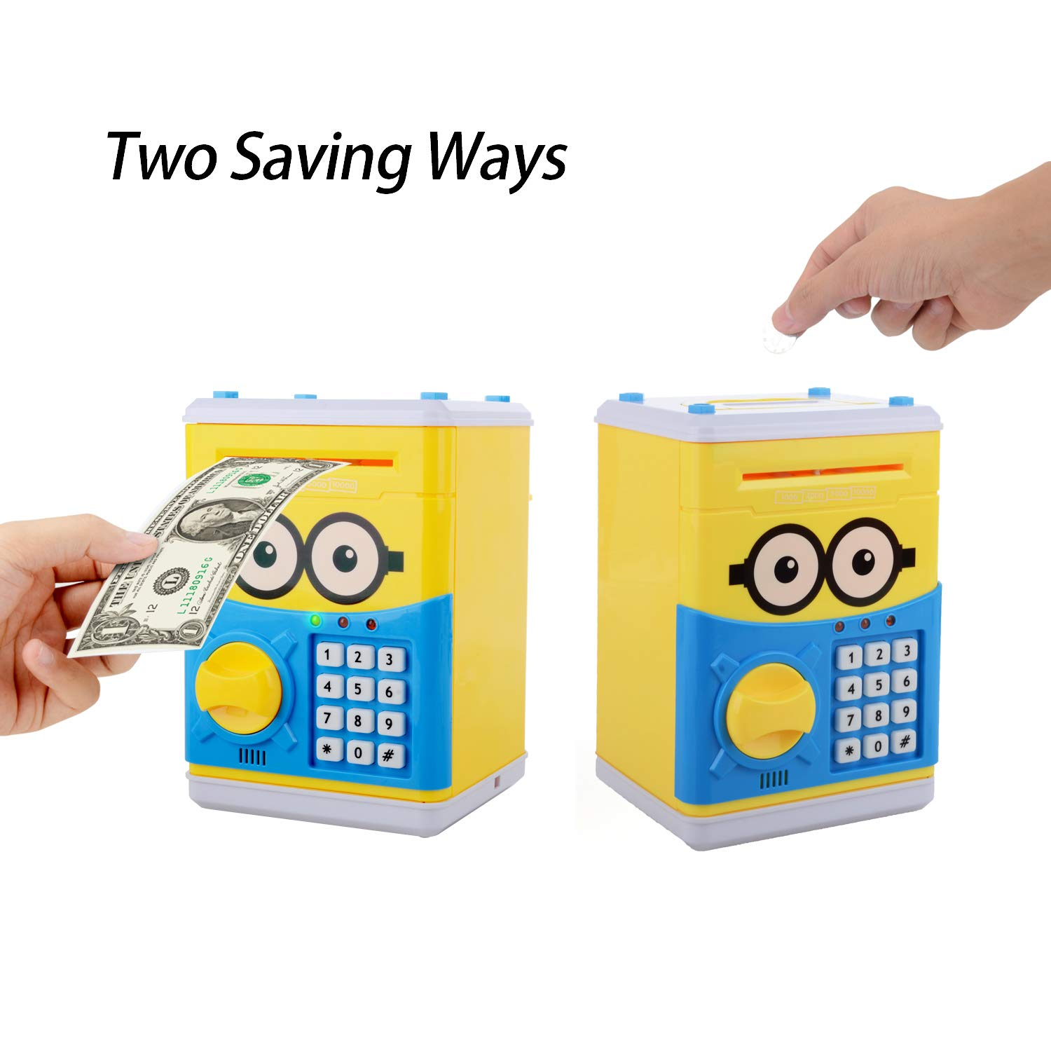 Cartoon Piggy Bank for Children Kids Password Electronic Money Bank, Mini ATM Electronic Coin Bank Coin Box, Great Christmas Gift for Children by CreaTion (Image #2)