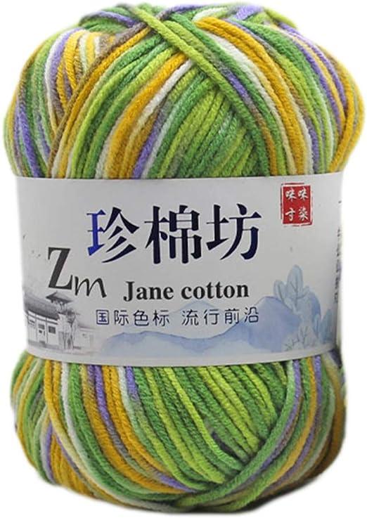 Hilo multicolor de algodón para tejer a mano, hilo teñido Ombre ...