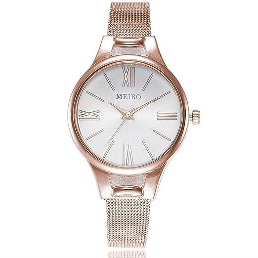 Relojes pulsera mujer,KanLin1986 reloj mujer de acero inoxidable reloj mujer deportivo colgantes de cuarzo relojes mecanicos de pulsera relojes mujer ...