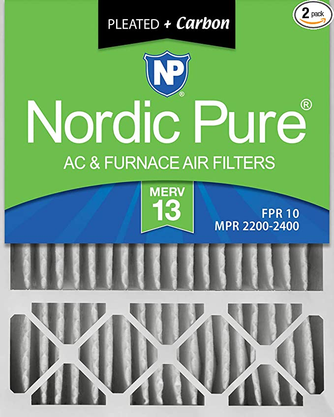 Nordic Pure 12x24x1 MERV 13 Pleated AC Furnace Air Filters 6 Pack