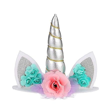 Tonpot - Decoración para Tarta de Unicornio para decoración ...