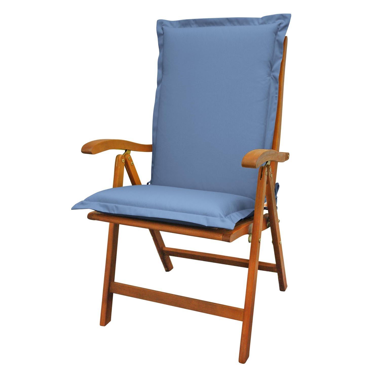 Indoba Sitzauflage, Hochlehner extra dick-Serie Premium, blau, 120 x 50 x 9 cm, IND-70492-AUHL
