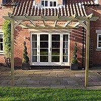 Rutland County Garden Furniture Pérgola Grande esculpida Rafter – diseño de pérgola Inclinada: Amazon.es: Jardín