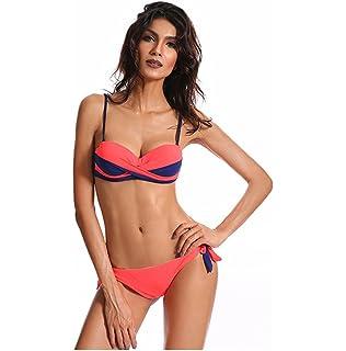 KEHUASHINA Femmes Pure Bikini Set mignon maillot de bain 2 pcs mode maillots de bain Casual Beachwear Lingerie ensembles noir