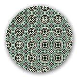Uneekee Islamic Mosaic Lazy Susan: Small, Dark Wooden Turntable Kitchen Storage