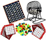 Regal Games Metal 8-Inch Bingo Cage Game with White Bingo Balls, Bingo Chips, and 17 Bingo Cards